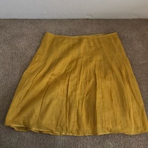 Jcrew yellow skirt